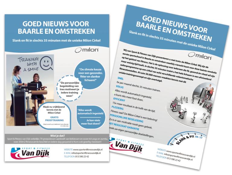 Flyer Folder Baarle-Nassau Reclamebureau Communicatiebureau DreamWork Reclame drukwerk